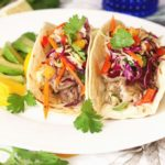 "Smoky Pulled Pork ""Chile Verde Style"" Tacos"