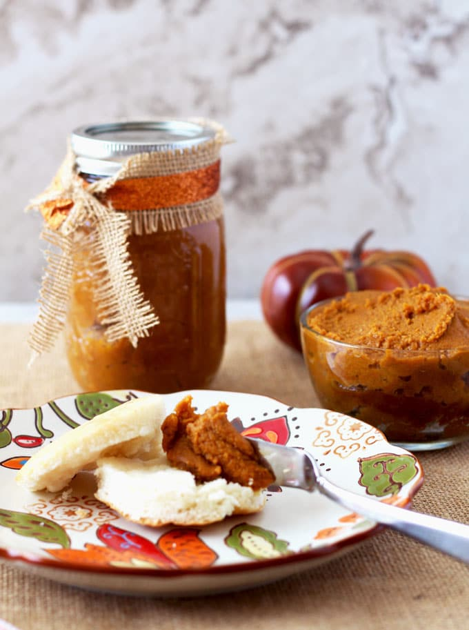 Dulce de Leche & Pumpkin Butter with Bourbon in the Crock Pot