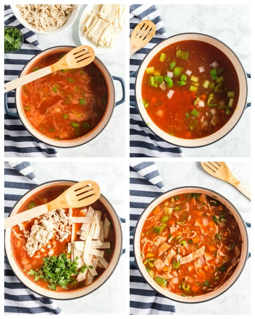 Steps to make Mexican chicken soup