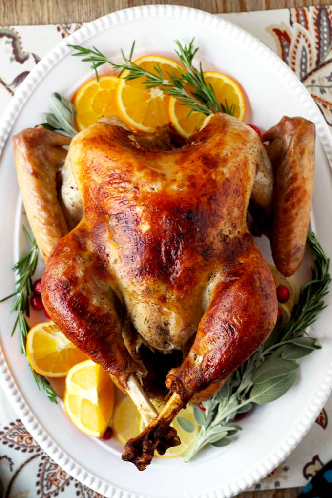 Brined and Roasted Turkey ~ Perfect Every Time!