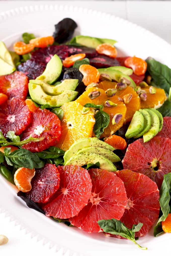 Citrus Salad with Basil Vinaigrette ~ Fresh, Light and Easy | Lemon ...