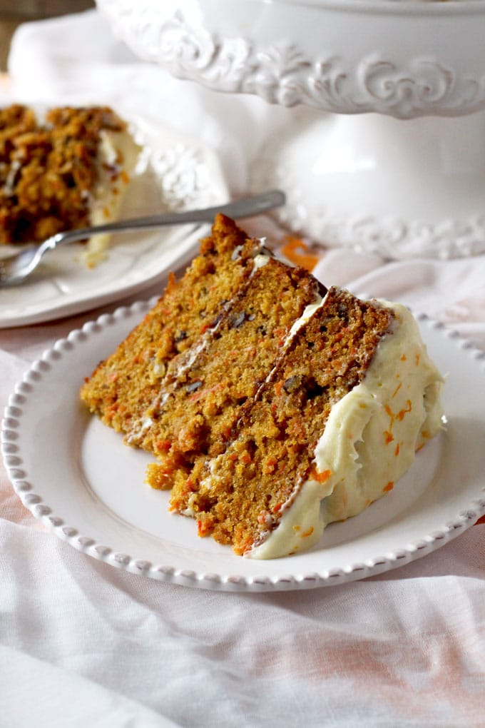 Carrot Cake With Orange Grand Marnier Cream Cheese Frosting Lemon