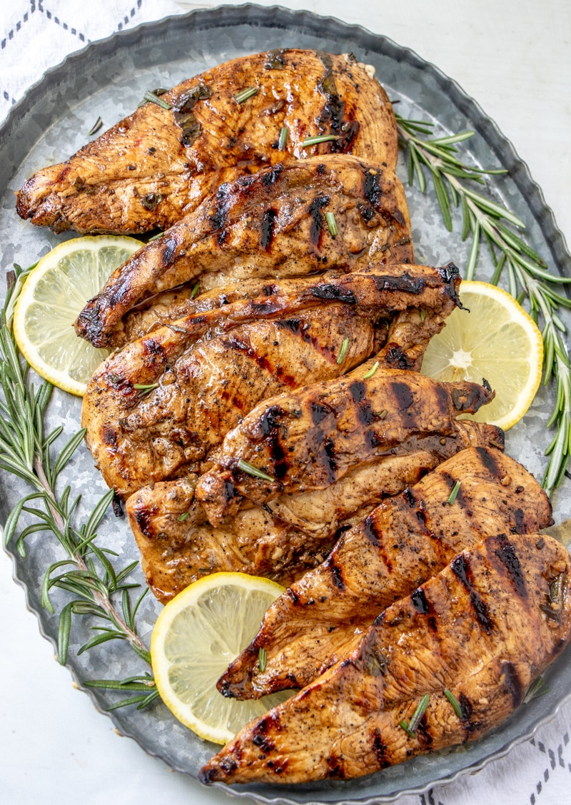 GRILLED CHICKEN BREAST WITH THE BEST BALSAMIC HERB MARINADE LEMON