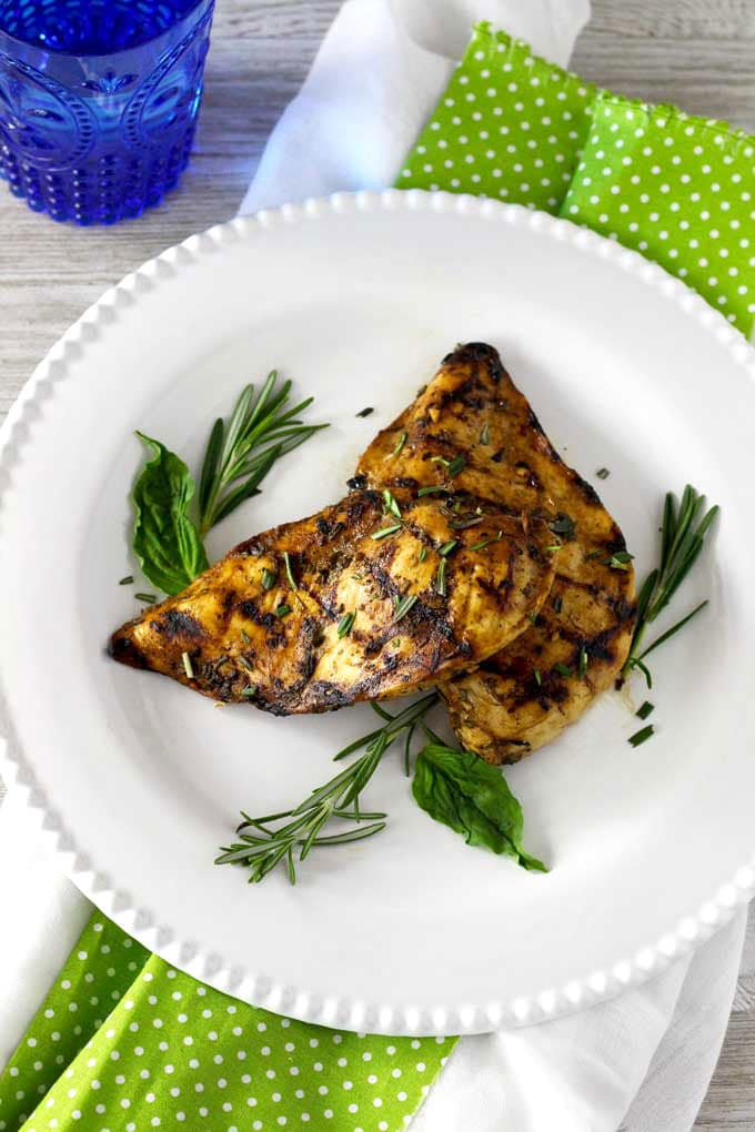 Grilled Chicken With The Best Balsamic Herb Marinade Lemon Blossoms