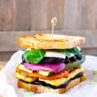 : Loaded with marinated grilled vegetables, fresh mozzarella and a super flavorful and easy to make basil aioli. The Ultimate Grilled Veggie Sandwich is a great vegetarian option that is healthy, filling and delicious. Trust me even meat lover will love this sandwich!!