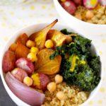 Quinoa Bowls with Turmeric Tahini Sauce
