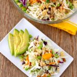 Tossed in a flavorful Asian Sesame vinaigrette, this Crunchy Asian Ramen Noodle Salad is easy to make, light, fresh and delicious to the point of addicting. A great addition to any meal, get together or potluck.