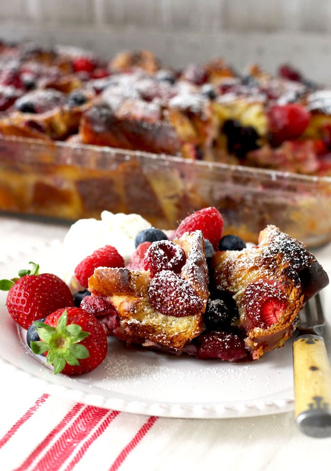 Very Berry Bread Pudding ~ Make-Ahead Perfection