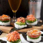 Sushi Stacks and Sapporo, the Perfect Pair