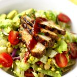 Easy Mexican Chopped Salad with Spiced Rubbed BBQ Chicken
