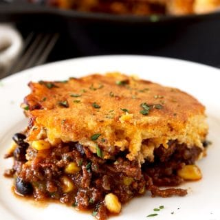 Tamale Pie with Brown Butter Cornbread Topping