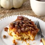 Cream Cheese Stuffed Pumpkin French Toast Bake