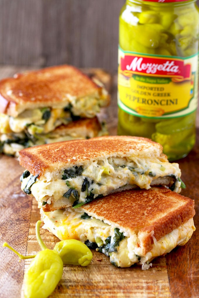 Spinach and Artichoke Dip Cheese Melts