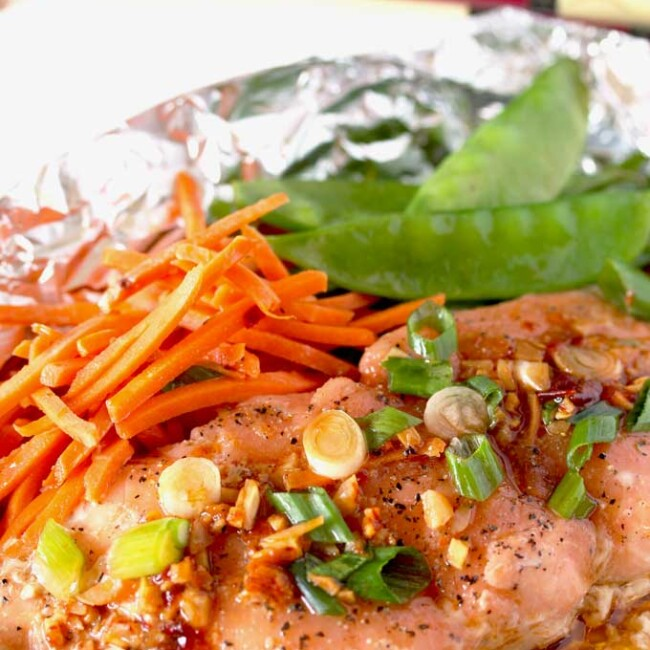 This Asian Butter Salmon is packed with Asian flavors! Light, easy, nutritious and ready in under 20 minutes!