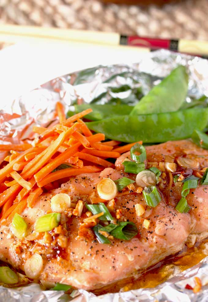 Asian Butter Salmon in Foil Packets – Under 20 Minutes!