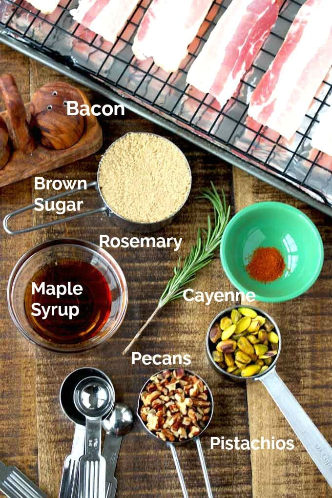 Ingredients to make this bacon recipe.