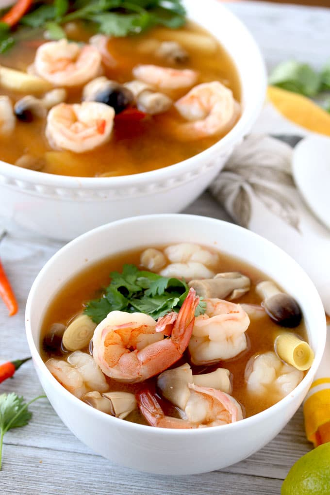 Thai Tom Yum Soup Hot And Sour Soup Lemon Blossoms