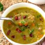 Pressure Cooker Split Pea Soup with Ham