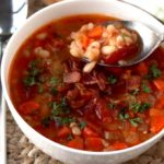 Pressure Cooker Bean and Bacon Soup