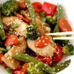 Sheet Pan Chicken and Vegetables Stir Fry