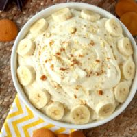 This Banana Cream Pie Dip recipe is super easy and quick to make! With only a handful of ingredients, this no-bake dip recipe is perfect for any occasion. All the amazing flavors of a banana cream pie in a smooth, creamy and silky dip!