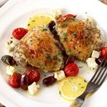 Greek Lemon Oven Roasted Chicken Thighs
