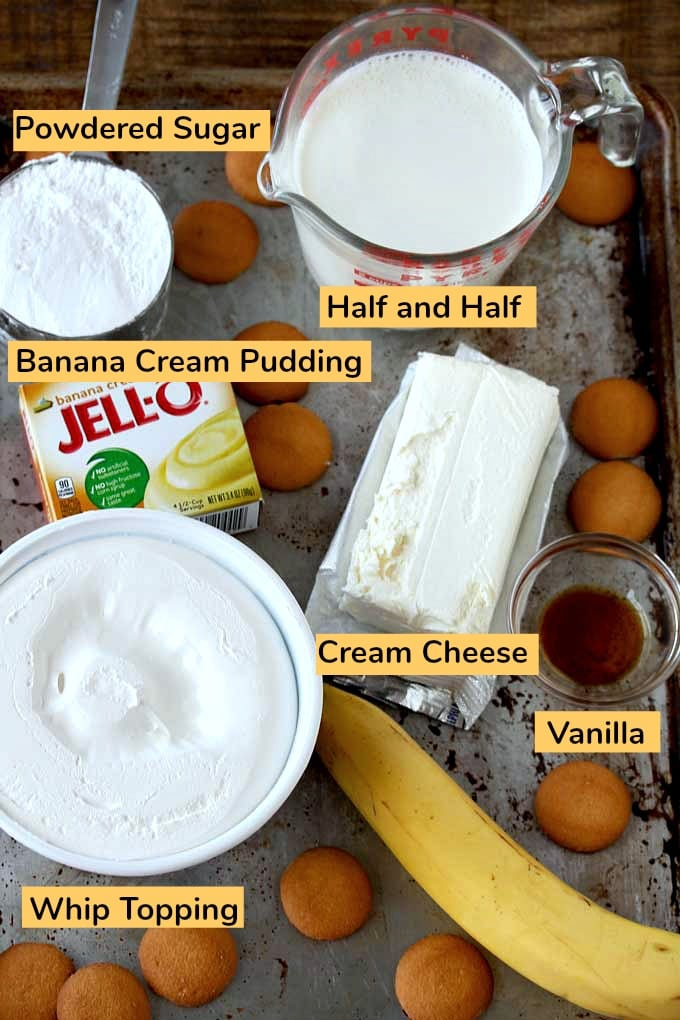Ingredients to make Banana Dip