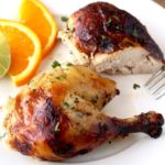 This Cuban Mojo Chicken is infused with a flavorful Mojo marinade made with citrus, garlic and spices, then oven roasted until golden brown, juicy and tender! This mouthwatering Mojo Chicken is perfect for dinner any day of the week and also fabulous for company!