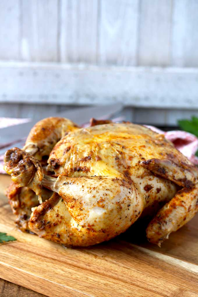 Pressure Cooker Whole Chicken Rotisserie Style Instant Pot Lemon
