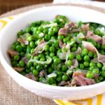 Sauteed Peas with Prosciutto and Shallots