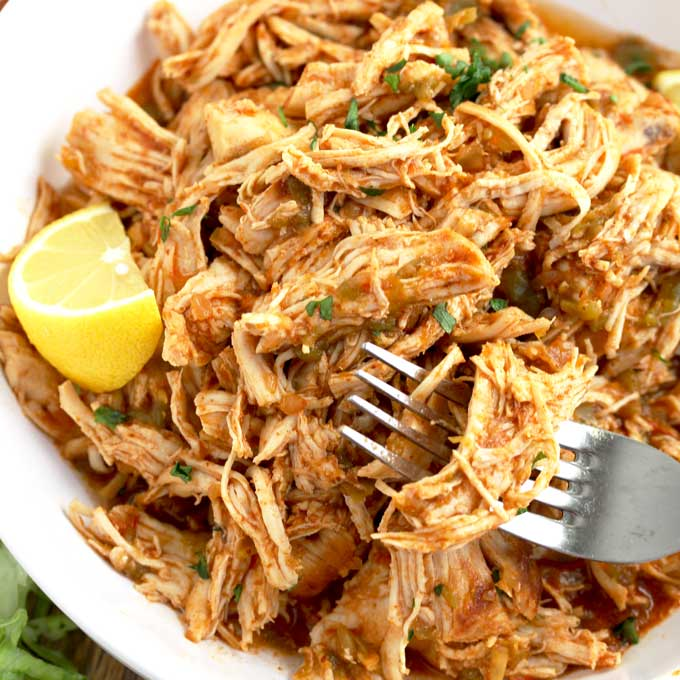 Instant Pot Shredded Chicken Mexican Style Lemon Blossoms