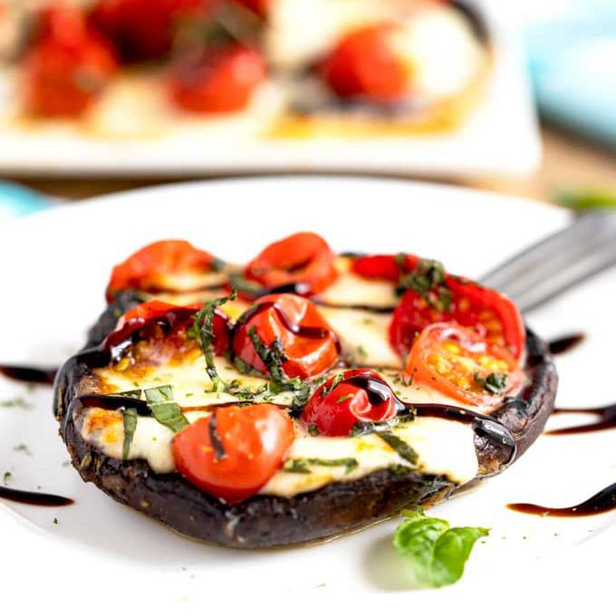 Grilled Portobello Mushrooms Caprese Lemon Blossoms
