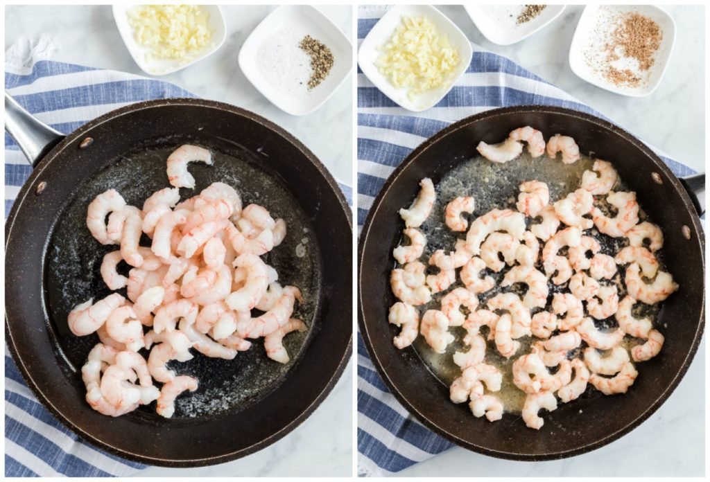 Step by step photos on how to make Alfredo Shrimp Pasta