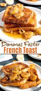 Bananas Foster French Toast - tender and golden brioche French toast topped with the most decadent caramelized brown sugar banana topping. This easy French toast recipe is mouthwatering delicious!