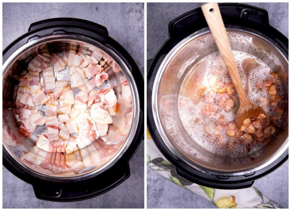 Bacon cooking in an instant pot. Next crispy bacon in an instant pot.