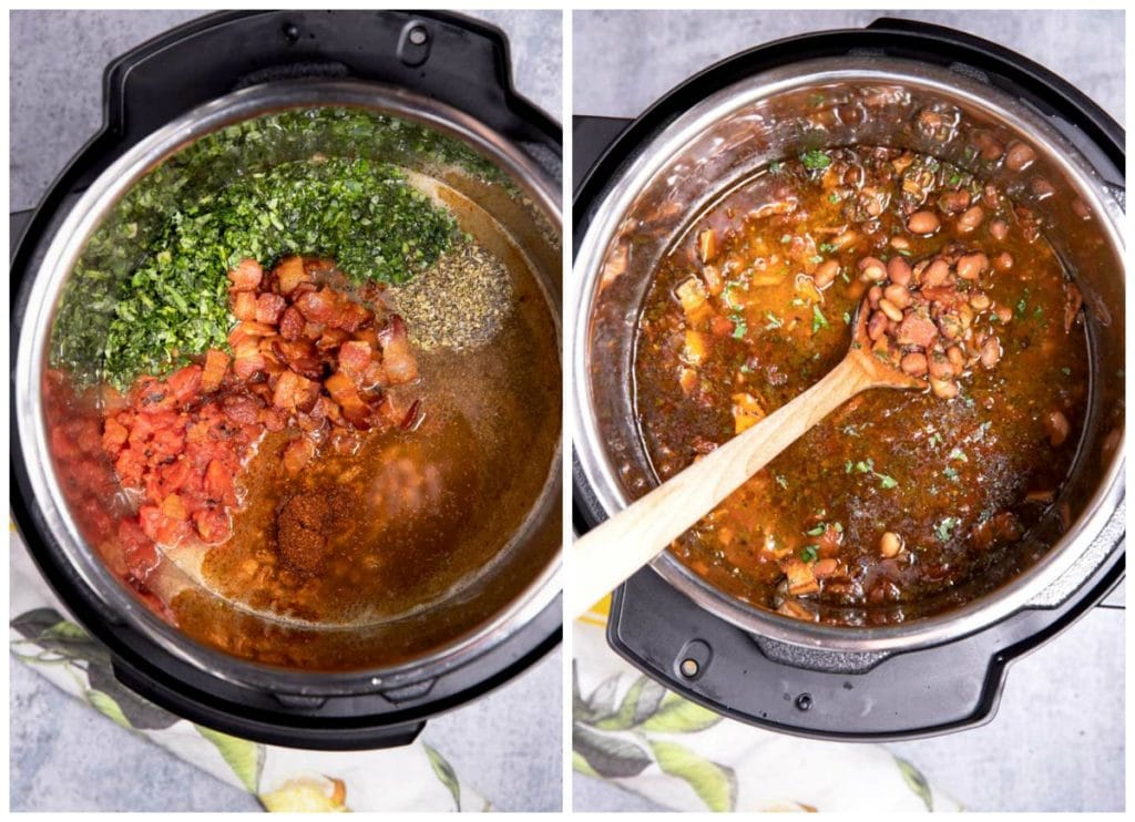 Cooking beans in the instant pot.
