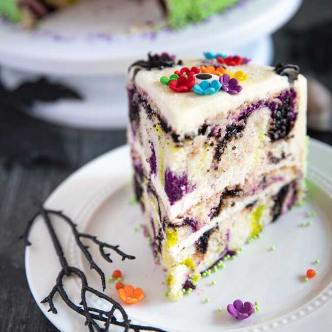 Slice of Dead of the Dead Cake
