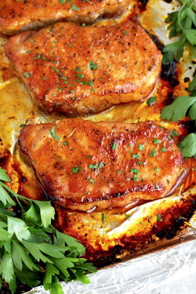 Easy Oven Baked Pork Chops | Lemon Blossoms