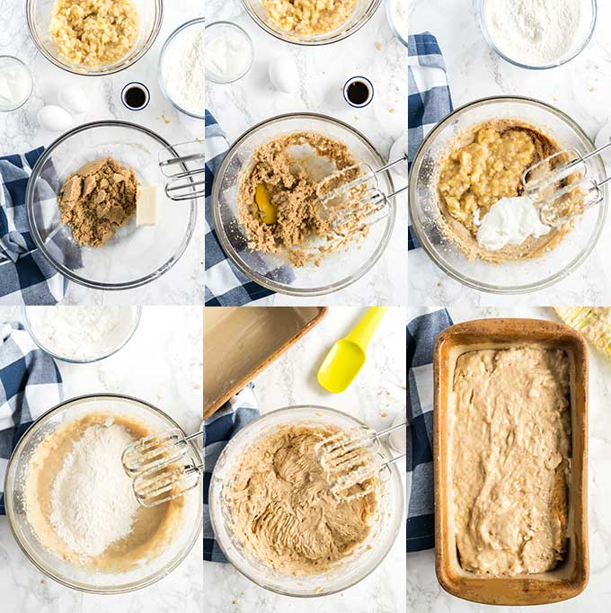 Step by step photos on how to make the best banana bread.