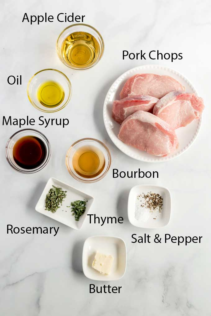 Ingredients to make this pork chop recipe