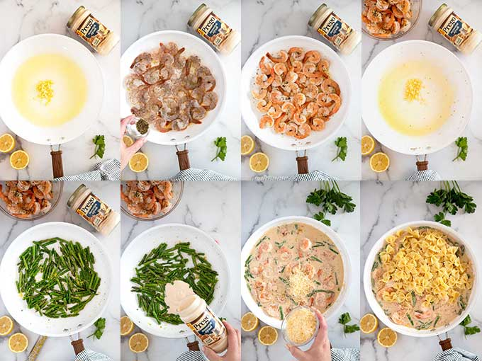 Step by step images on how to make this pasta dish