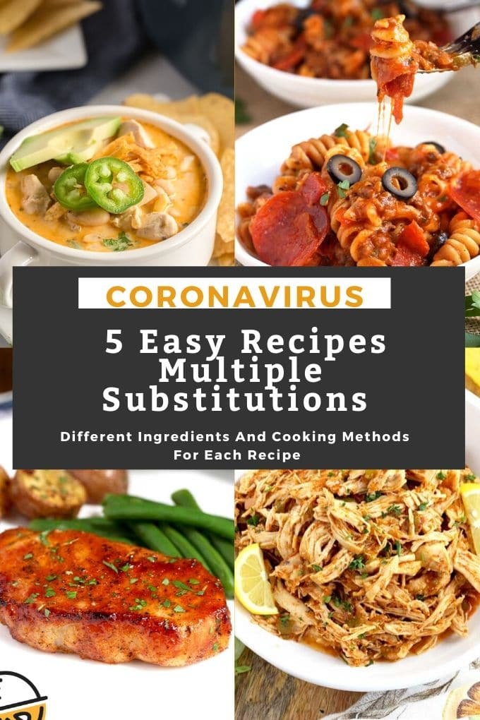 Easy recipes with multiple ingredient and method substitutions perfect to make during Covid19