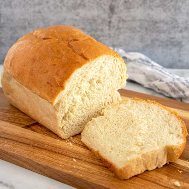 A loaf of the best homemade white bread