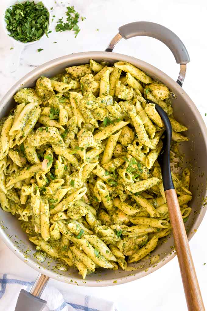 Chicken Pesto Pasta Creamy Lemon Blossoms