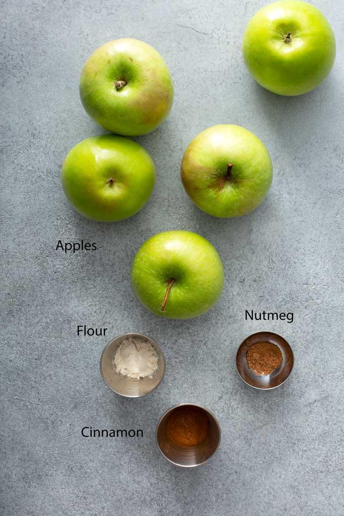 Ingredients To Make Cinnamon Apples.