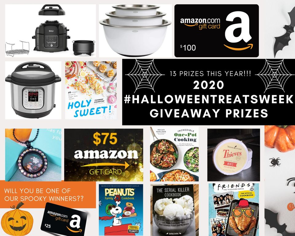 Giveaway prizes collage