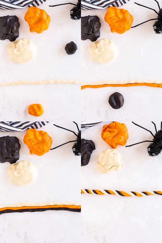 Step by step photos, assembling lollipop cookies