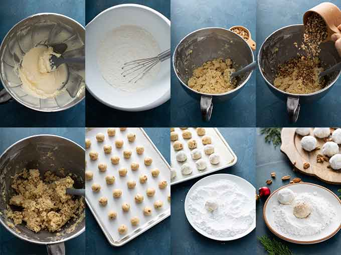 Collage of images on how to make Mexican cookies