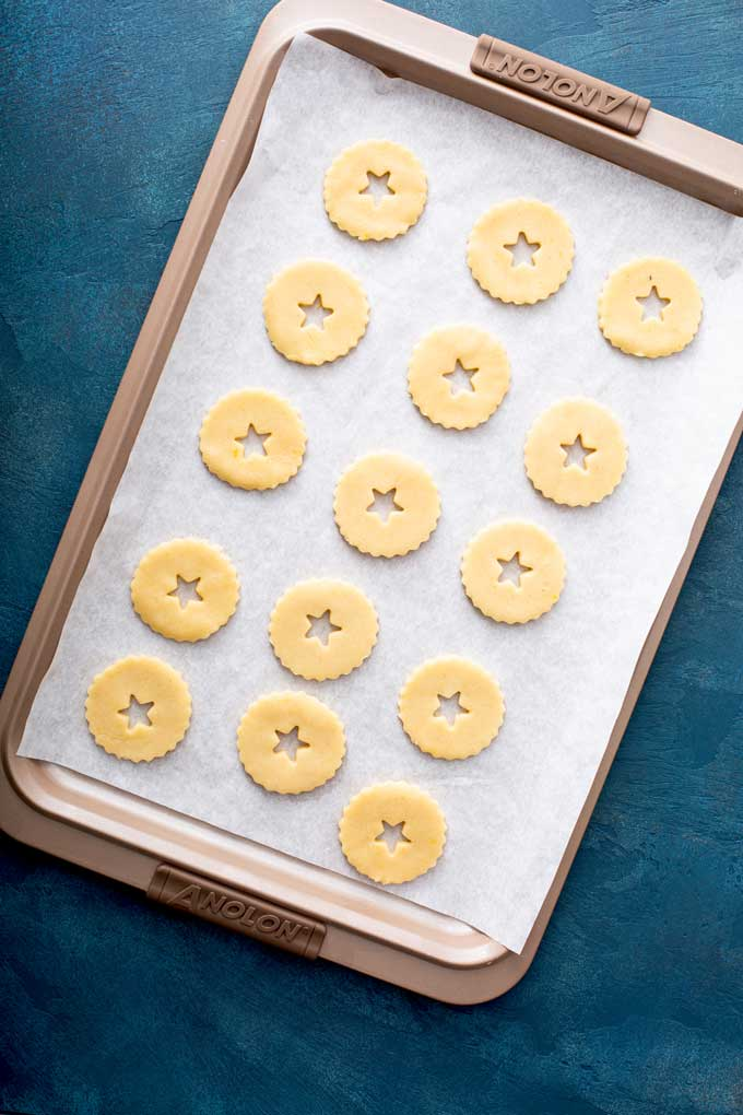 Unbaked cookies on a sheet pan