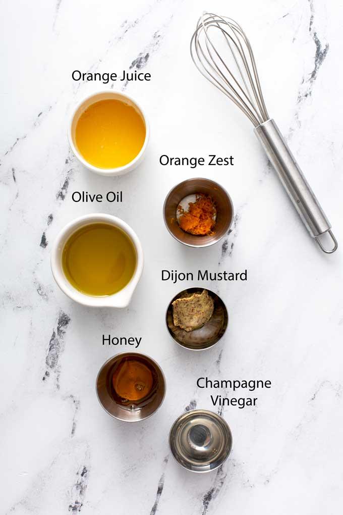 ingredients to make orange honey salad dressing